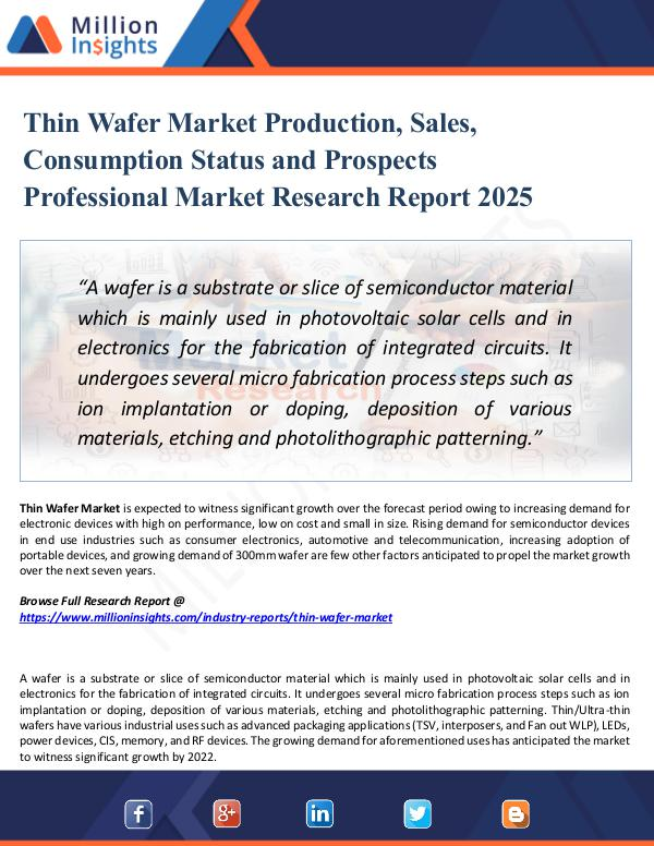 Market Research Analysis Thin Wafer Market Production, Sales, Consumption