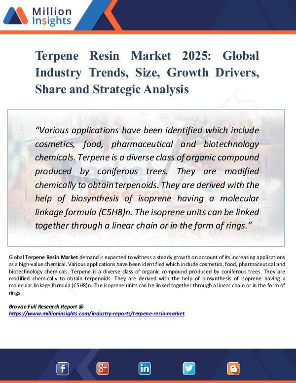 Market Research Analysis Terpene Resin Market 2025  -Global Industry Trends