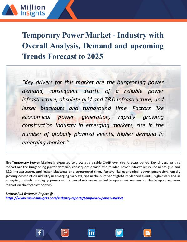 Market Research Analysis Temporary Power Market - Industry 2025