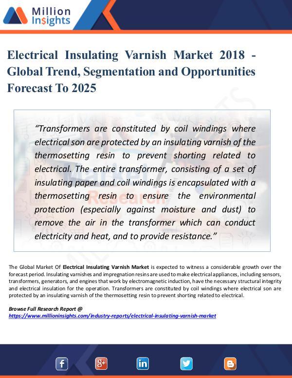 Market Research Analysis Electrical Insulating Varnish Market 2025