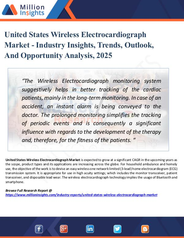Market Research Analysis United States Wireless Electrocardiograph Market