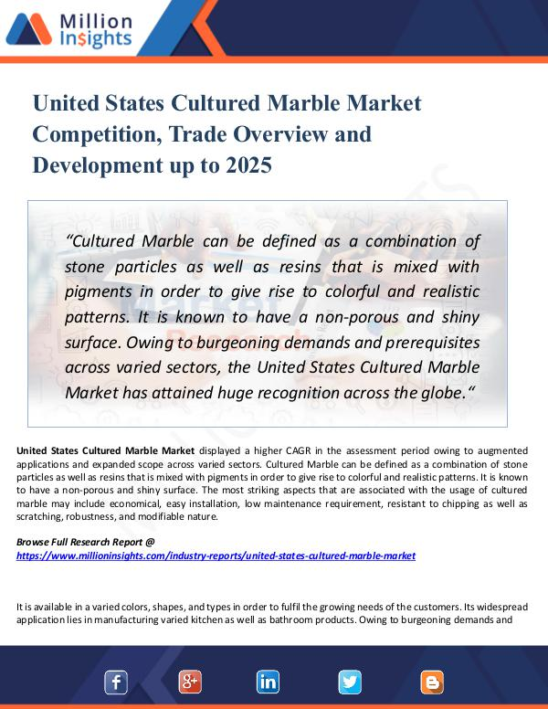 Market Research Analysis United States Cultured Marble Market Competition