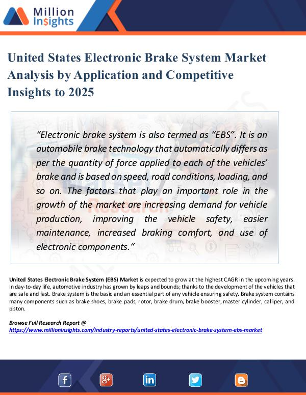 Market New Research United States Electronic Brake System Market 2025