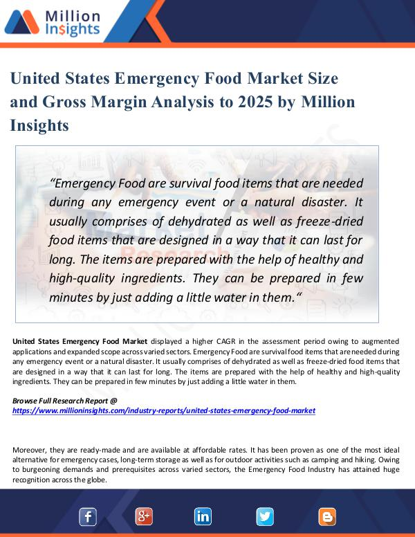 Market New Research United States Emergency Food Market Size 2025