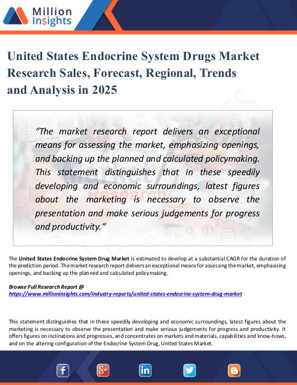 Market New Research United States Endocrine System Drugs Market 2025