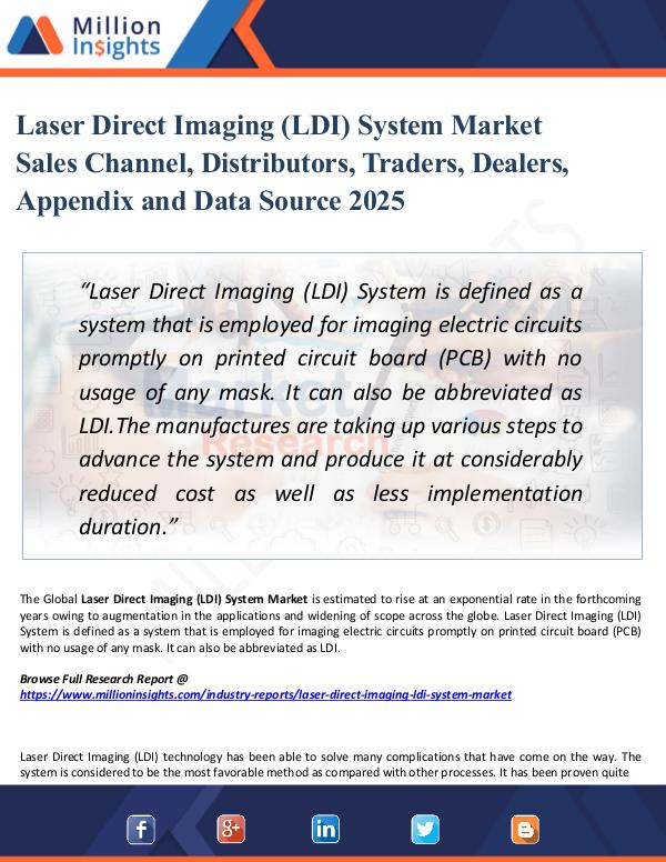 Market New Research Laser Direct Imaging (LDI) System Market Sales