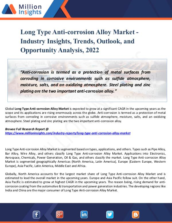 Long Type Anti-corrosion Alloy Market - Report