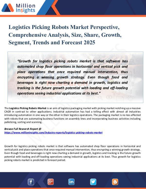 Logistics Picking Robots Market Perspective, 2025