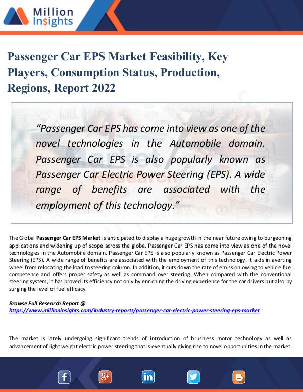 Market Share's Passenger Car EPS Market Feasibility, Key Players