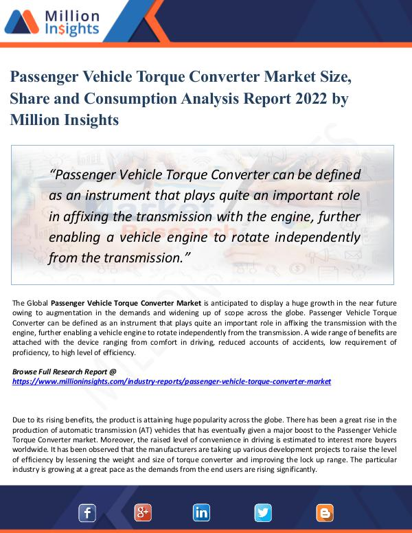 Passenger Vehicle Torque Converter Market Size