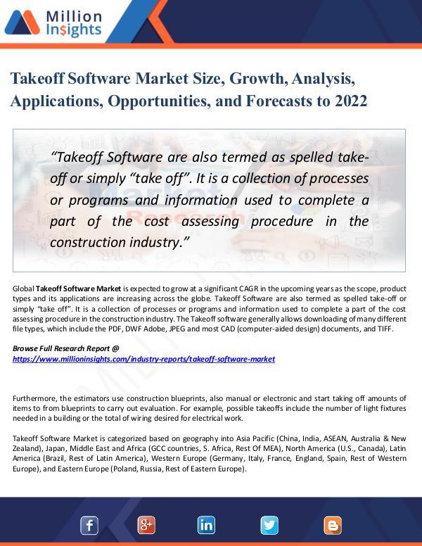 Takeoff Software Market Size, Growth, Analysis
