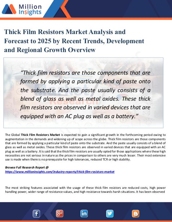 Market Share's Thick Film Resistors Market Analysis and Forecast