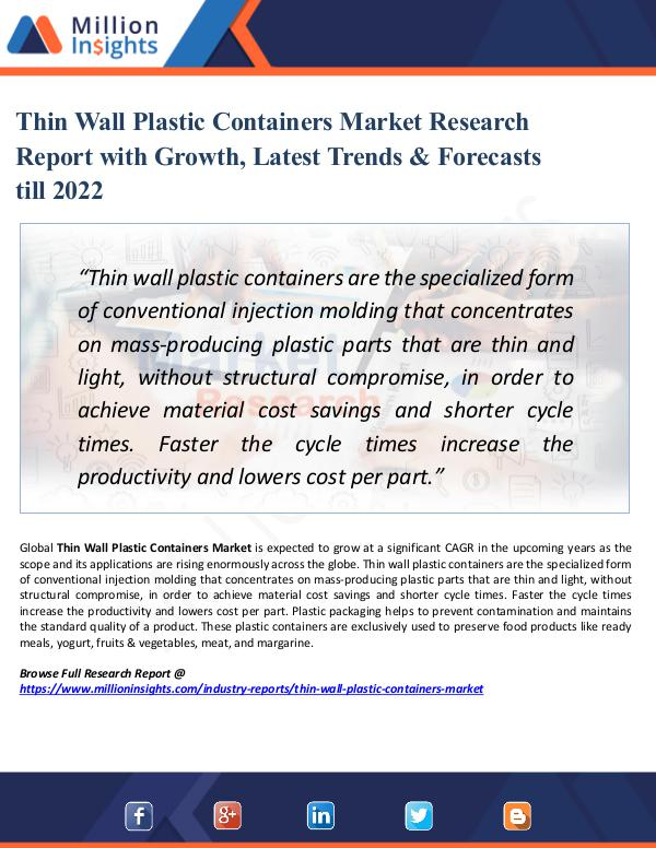 Market Share's Thin Wall Plastic Containers Market Research 2022
