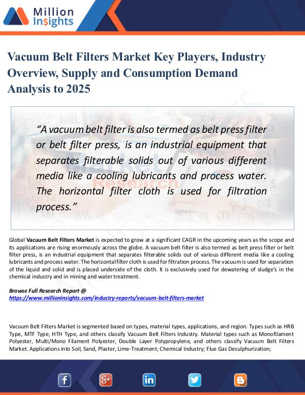 Market Share's Vacuum Belt Filters Market Key Players, 2025