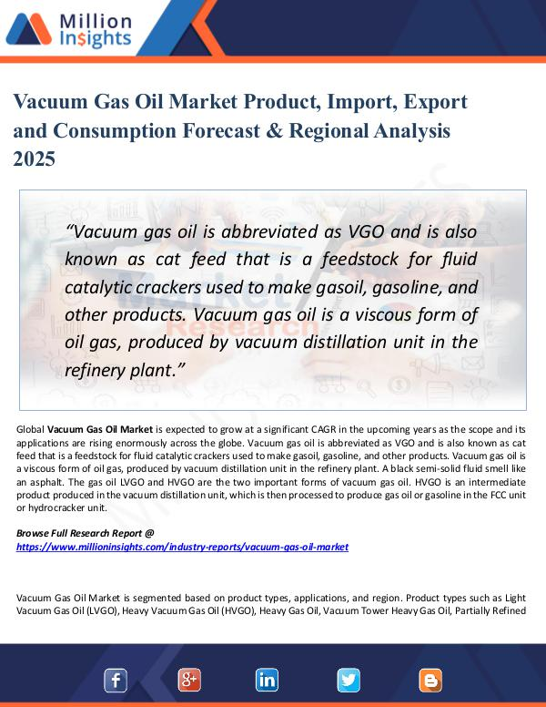 Market Share's Vacuum Gas Oil Market Product, Import, Export 2025