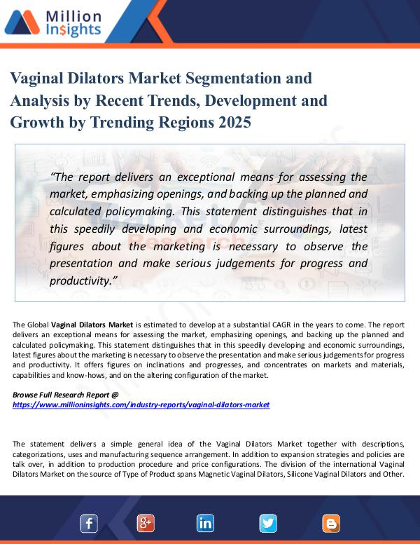 Market Share's Vaginal Dilators Market Segmentation and Analysis