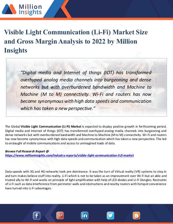 Visible Light Communication (Li-Fi) Market Size