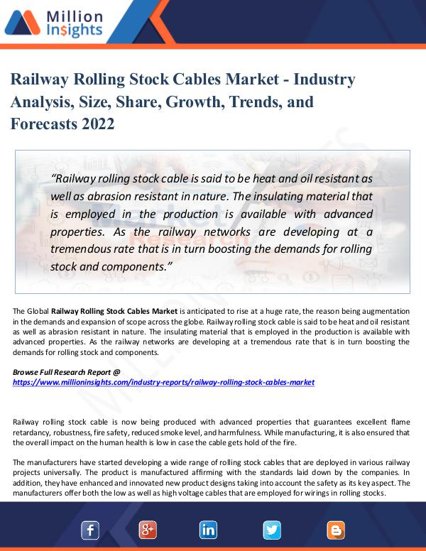 Market Share's Railway Rolling Stock Cables Market - Report