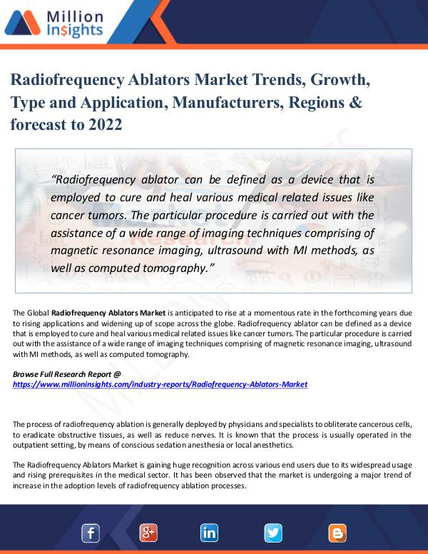 Market Share's Radiofrequency Ablators Market Trends, Growth,