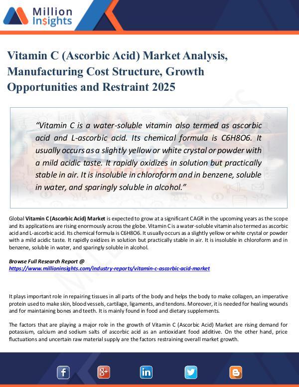 Market Share's Vitamin C (Ascorbic Acid) Market Analysis, 2025