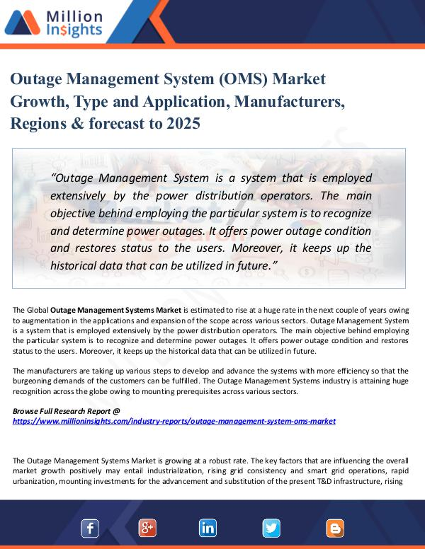 Market Share's Outage Management System (OMS) Market Growth, Type