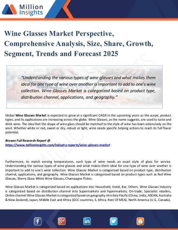 Wine Glasses Market Perspective, 2025