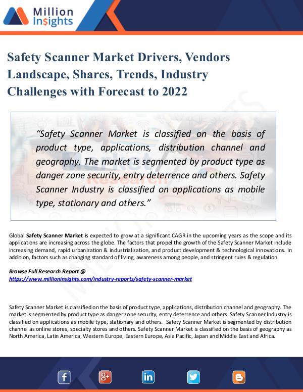 Safety Scanner Market Drivers, Vendors Landscape
