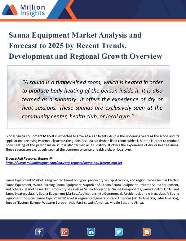 Sauna Equipment Market Analysis and Forecast 2025