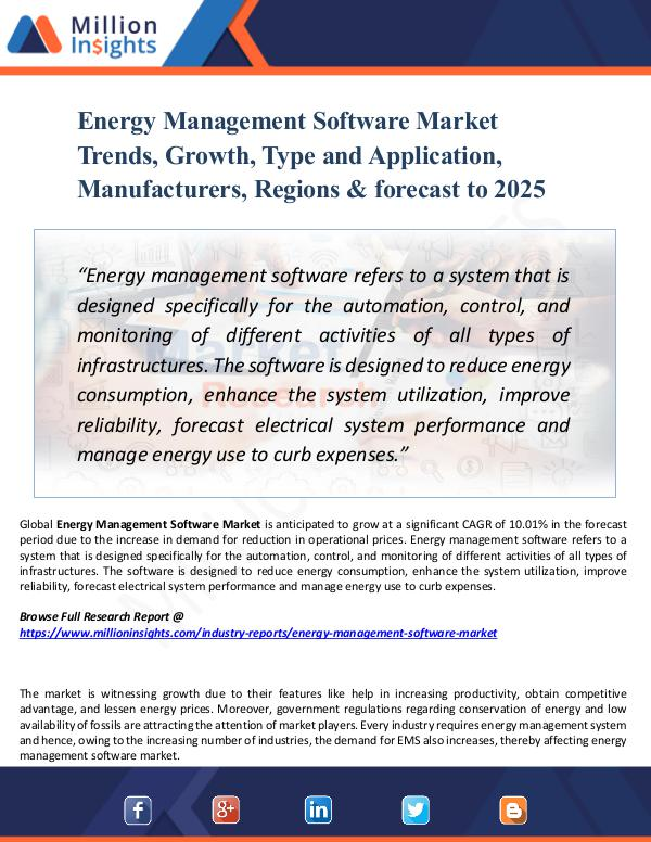 Energy Management Software Market Trends, Growth,