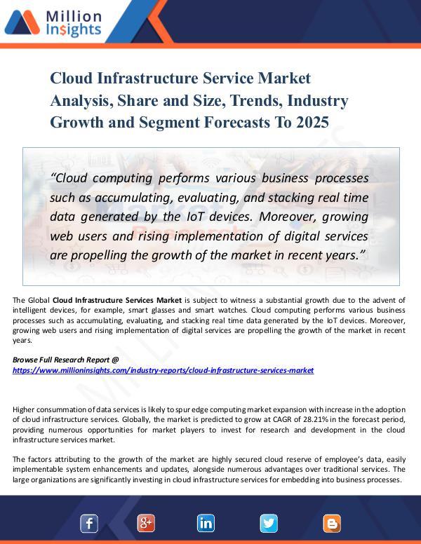 Cloud Infrastructure Service Market Analysis 2025