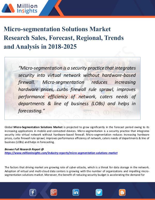 Micro-segmentation Solutions Market Research Sales