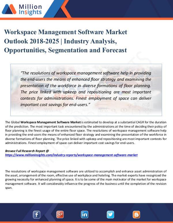 Market Share's Workspace Management Software Market Outlook 2025