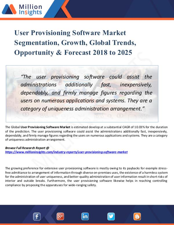Market Share's User Provisioning Software Market Segmentation,
