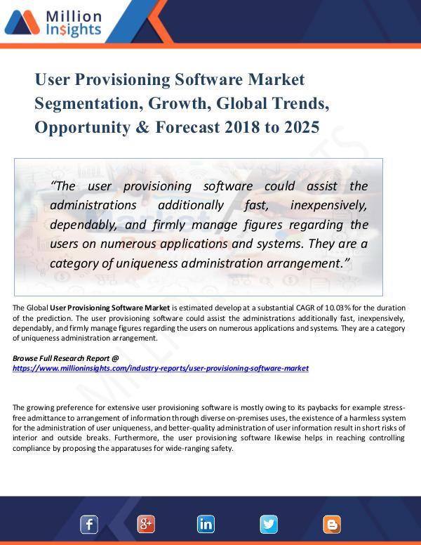 User Provisioning Software Market Segmentation,