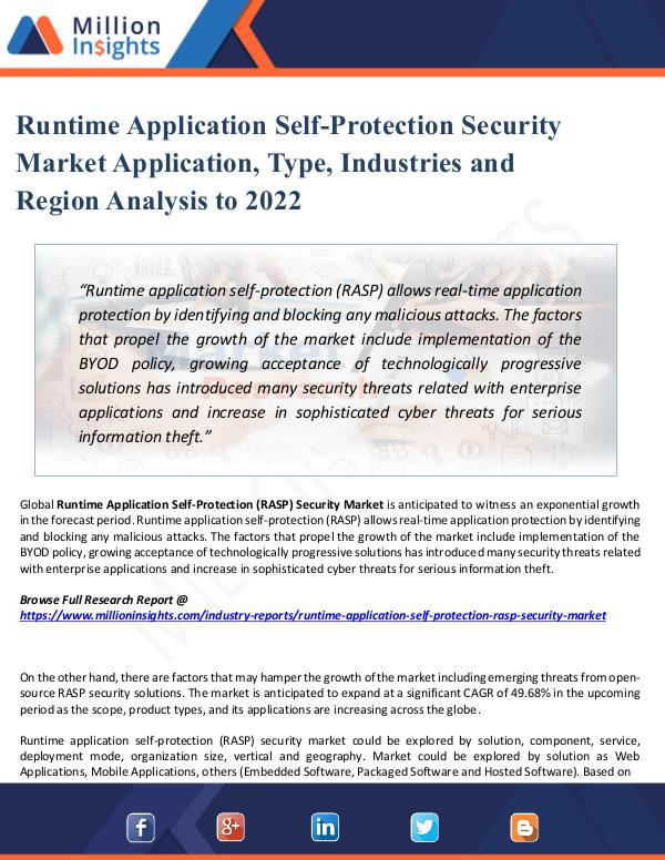 Market Share's Runtime Application Self-Protection Security Marke