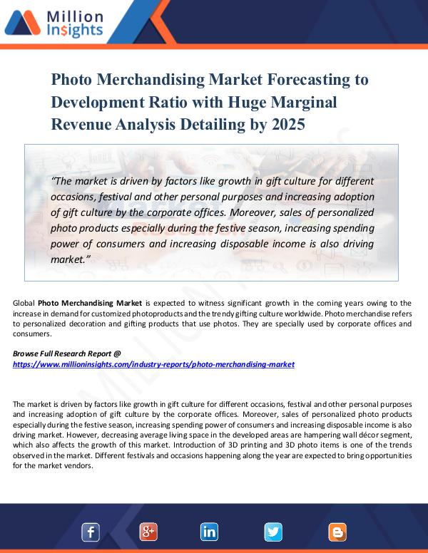 Photo Merchandising Market Forecasting 2025