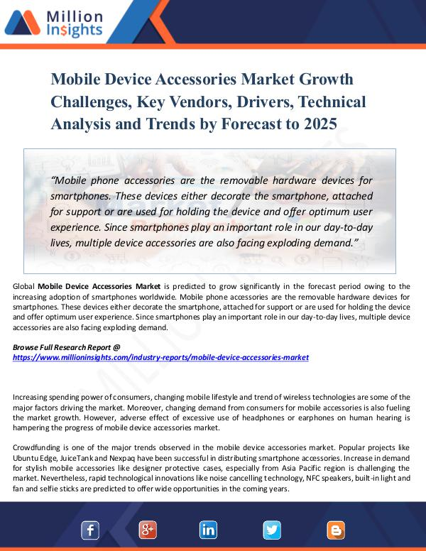 Mobile Device Accessories Market Growth Challenges