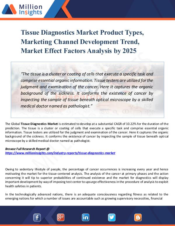 Tissue Diagnostics Market Product Types, Marketing