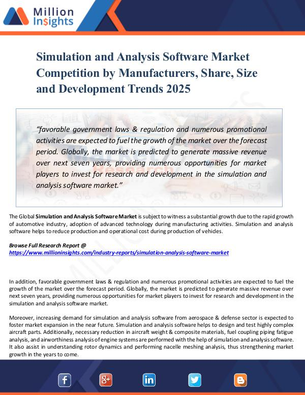 Simulation and Analysis Software Market Report