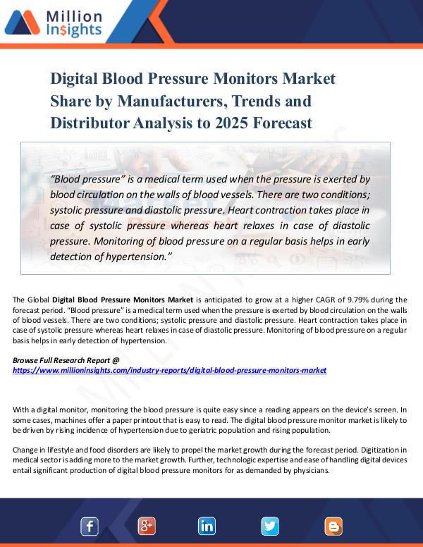 Digital Blood Pressure Monitors Market Share 2025
