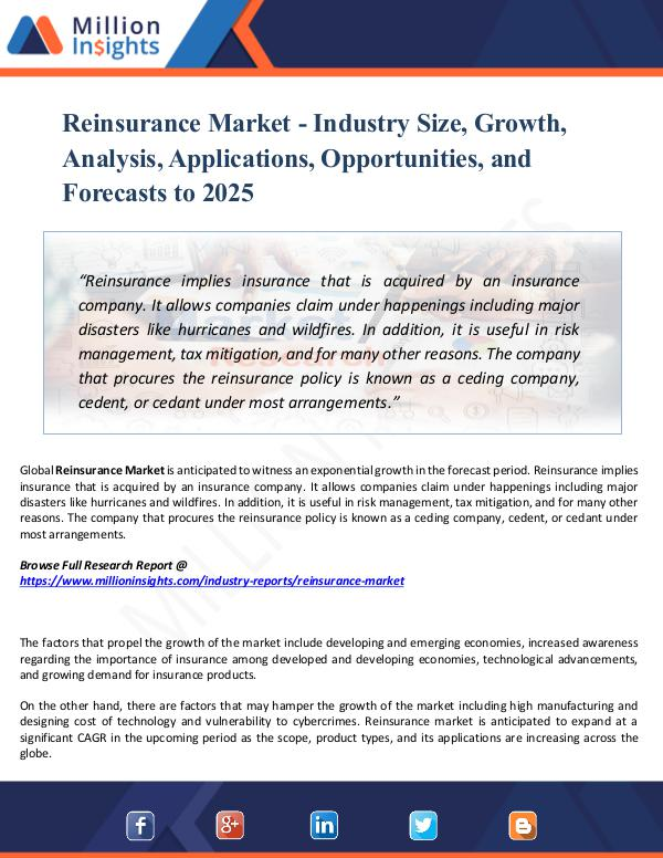 Market New Research Reinsurance Market - Industry Size, Growth, Report