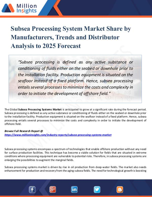 Subsea Processing System Market Share by Manufactu