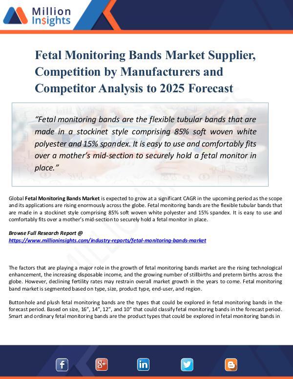 Market Share's Fetal Monitoring Bands Market Supplier, Report