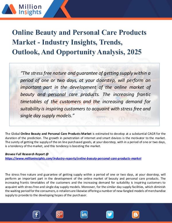 Online Beauty and Personal Care Products Market -