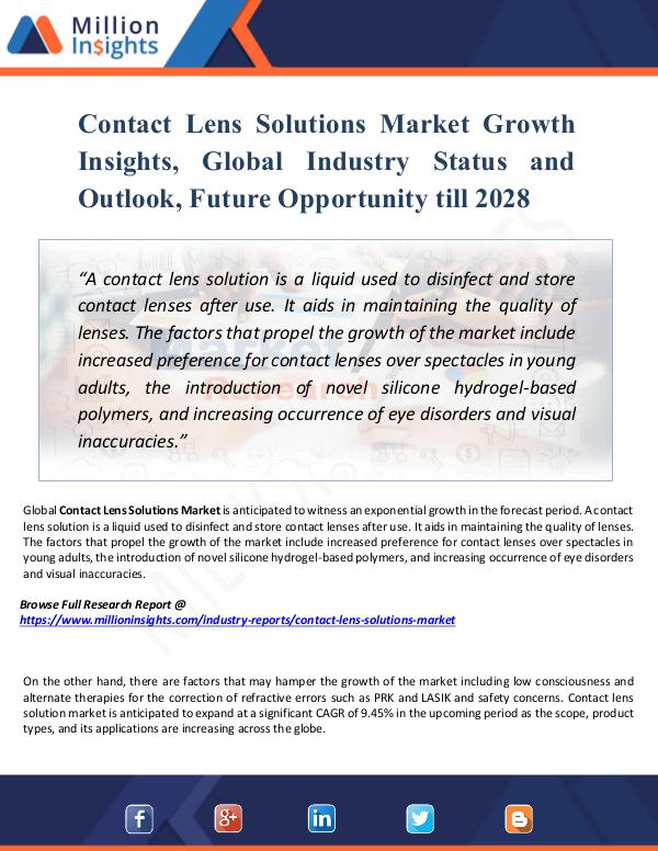 Contact Lens Solutions Market Growth Insights