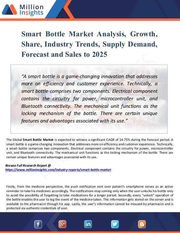 Smart Bottle Market Analysis, Growth, Share, 2025