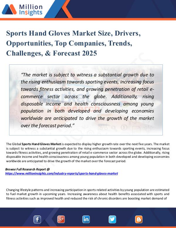 Market New Research Sports Hand Gloves Market Size,Drivers,Opportunity