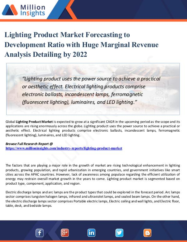 Market Research Analysis Lighting Product Market 2021: Analysis By Material