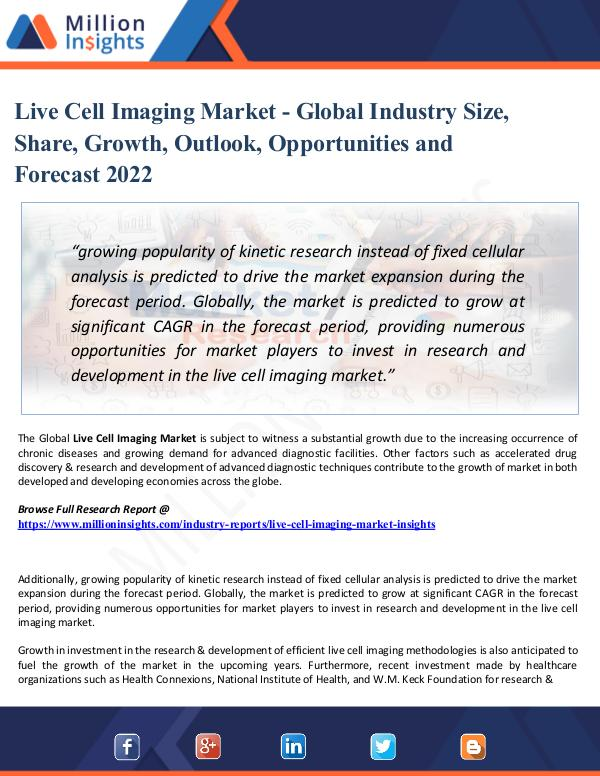 Market Research Analysis Live Cell Imaging Market Technological Advancement