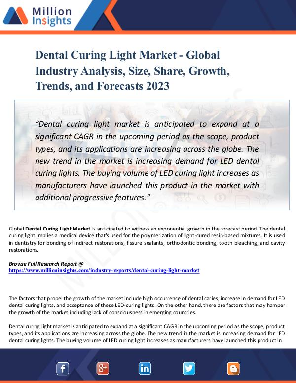 Chemical Market ShareAnalysis Dental Curing Light Market - Global Industry Analy